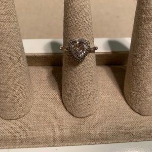 Brighton Crystal Heart Ring
